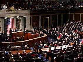 Obama bei seiner Rede vor dem Kongress.