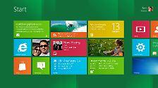 Kacheln auf dem Laptop: Windows 8 installiert