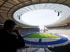 Im Berliner Olympiastadion wird der Papst am Donnerstag eine Messe lesen.
