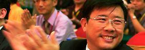 Liang Wengen, Vorstandschef und Hauptaktionär der Sany Group, 2005 bei einem Treffen in Changsha, Provinz Hunan.