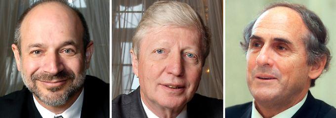 Beutler, Hoffmann und Steinman (v.l.) sind die Preisträger 2011.