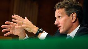 ... auch sein Finanzminister Geithner richten mahnende Worte an Europa.