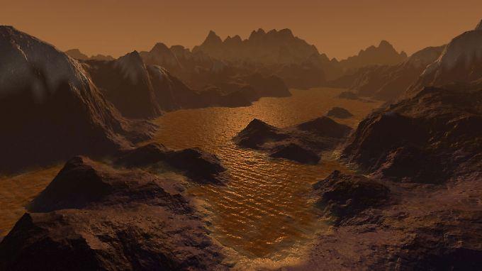 Heimelig: Illustration des Saturnmondes Titan.