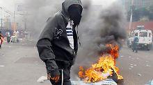 Chaos in Honduras Hauptstadt.