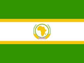 Die Flagge der Afrikanischen Union.