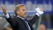 Willkommen in der Bundesliga! Gerade einmal 65 Sekunden brauchte Wolfsburg gegen den HSV von Thorsten Fink, um ein Tor zu erzielen.