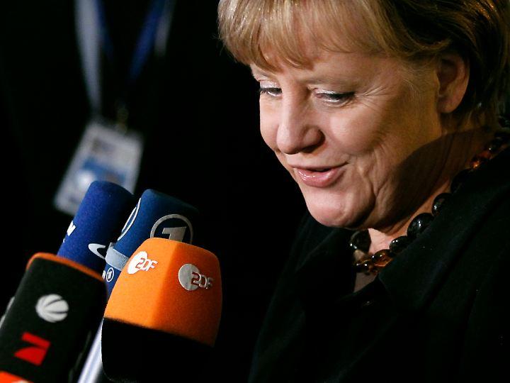 Merkel gab sich betont optimistisch.