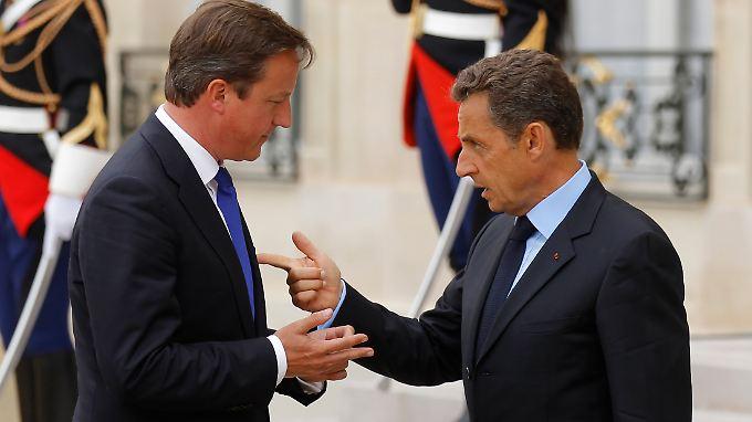 Klare Wort fand Sarkozy gegenüber Cameron (Archivbild).