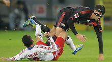 Michael Ballack verspielte mit Bayer Leverkusen eine 2:0-Führung gegen den Hamburger SV.