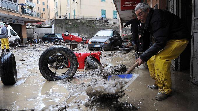 Das norditalienische Genua hat es besonders hart getroffen.