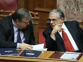 Der alte Finanzminister ist der neue: Evangelos Venizelos.