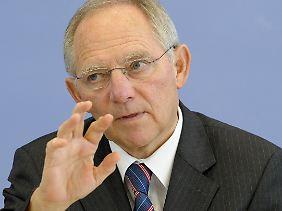"""Schäuble: """"Die Neuregelung folgt dem Grundsatz weitestmöglicher Transparenz""""."""