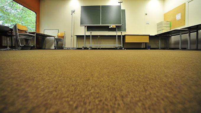 Der Raum 205 im Diesterweg-Gymnasium in Berlin. Er wurde übergangsweise als Gebetsraum genutzt. Inzwischen ist die Schule umgezogen.