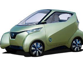 Nissan Pivo: künftiges Stadtauto mit E-Antrieb.