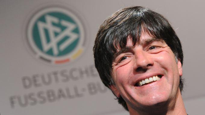 Ausnehmend entspannt vor der Auslosung: Bundestrainer Joachim Löw.