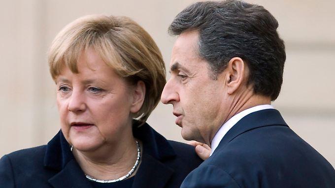 """""""Eurobonds lehnen wir ab"""": Merkozy demonstrieren Einigkeit"""