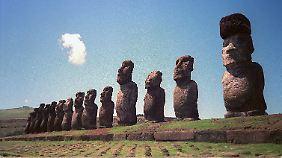 Moai-Statuen auf einer der Osterinseln: Eine solche macht Chile Minami Sanriku zum Geschenk.