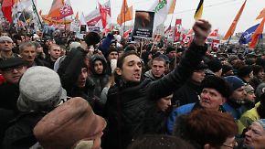 """Massenproteste in Russland: """"Die Ratten müssen weg"""""""