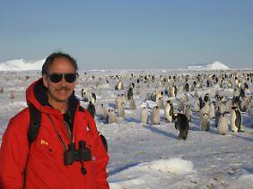 Polarforscher König-Langlo in seinem Element: In der Nähe der Neumayer-Station steht er auf dem Meereis der Akta-Bucht.