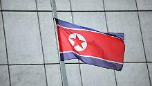 Trauer in Nordkorea: Die Fahnen stehen auf Halbmast.