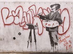 Dieses Banksy-Werk ging bei einer Online-Auktion für 278.000 Euro weg.