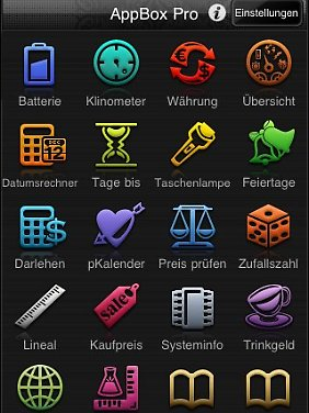 """Die """"app box pro"""" vereinigt viele Anwendungen und spart so Platz auf dem Desktop."""