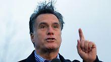 Vom Wetter gezeichnet: Mitt Romney.