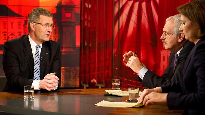 Das Interview wurde drei Stunden vor der Ausstrahlung aufgezeichnet.