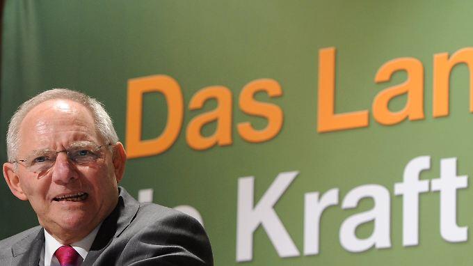 Neujahrsempfang des CDU-Kreisverbands Segeberg in Schleswig-Holstein: Es spricht der Bundesfinanzminister.
