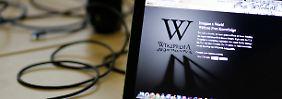 Wikipedia wieder weiß: Streik zeigt erste Wirkung