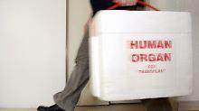 Gespendete Organe werden in Spezialkoffern transportiert.