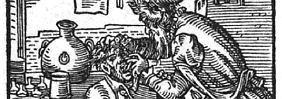 Brachiales Vorgehen: ein Zahnbrecher auf einer Darstellung von 1568.