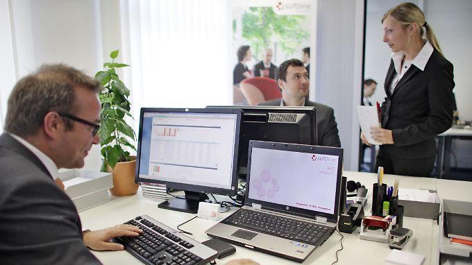 Arbeit beim IT-Dienstleister Softline in Leipzig.