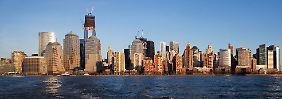 Wiederaufbau in New York: An Ground Zero wächst das neue One World Center in die Höhe.