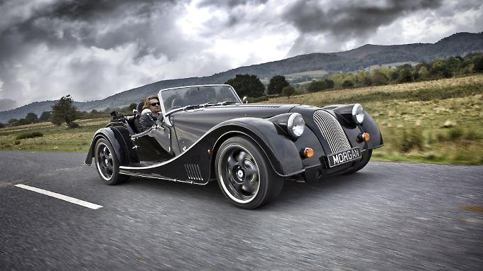 Dank des bei BMW eingekauften 4,8-Liter-V8-Benziners beschleunigt der Morgan Plus 8 in 4,5 Sekunden auf 100 km/h.