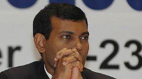 Nach Polizei-Meuterei: Präsident der Malediven tritt zurück