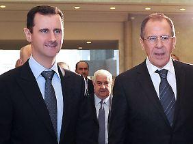 Das Treffen von Assad und Lawrow sorgt für Kritik im Westen.