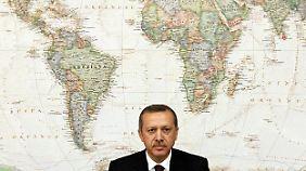 Der türkische Premier Erdogan bekommt vor allem für seine Annäherung an Armenien die Zustimmung der EU.