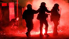 Die lange Nacht der Krawalle: Autonome wüten in Athen