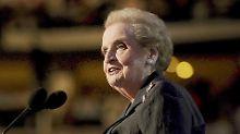 Madeleine Albright war von 1997 bis 2001 Außenministerin der USA.