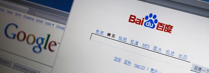 Zwei Seiten, ein Geschäftsprinzip: Google und Baidu verzieren Suchergebnisse im Internet mit der passenden Werbung.