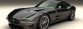 Die Formensprache ist offenkundig vom Jaguar E-Type inspiriert, technisch verkörpert das Sportcoupé aber den aktuellen Stand des Automobilbaus.