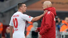 Lukas Podolski und Stale Solbakken - gemeinsam gegen den Abstieg.