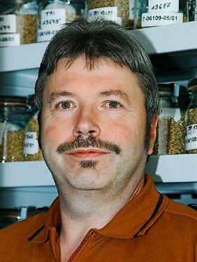 Dr. Andreas Börner ist zuständig für die Erhaltung und Charakterisierung des Sortiments der Genbank in Gatersleben.
