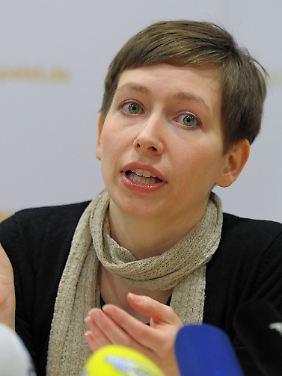 """""""Foodwatch""""-Mitarbeiterin Anne Markwardt stellte die Studie in Berlin vor."""