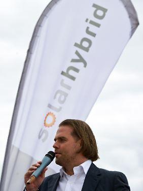 Firmenchef und -gründer Tom Schröder ist fein raus. Er hat einen Großteil seiner Solarhybrid-Aktien schon verkauft.
