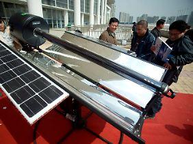 Solarmesse im chinesischen Jinan. Für deutsche Solarfirmen wird die Luft dünner.