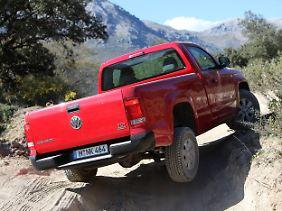 VW hat auch die Geländetauglichkeit des Amarok erhöht.