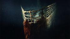 """Nur der Mythos bleibt: Die """"Titanic"""" wird langsam aufgefressen"""