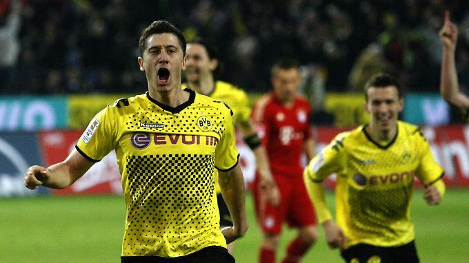 Im April 2012 erzielte Robert Lewandowski das Siegtor zum Dortmunder 1:0 über die Bayern - und entschied damit de facto die Meisterschaft.